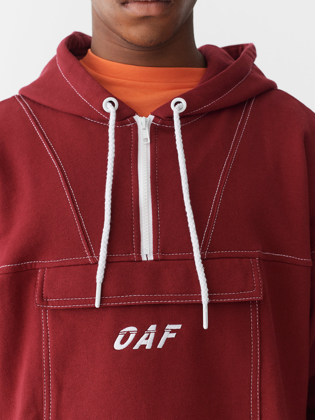 Lazy Oaf Stitched Up Maroon Hoodie