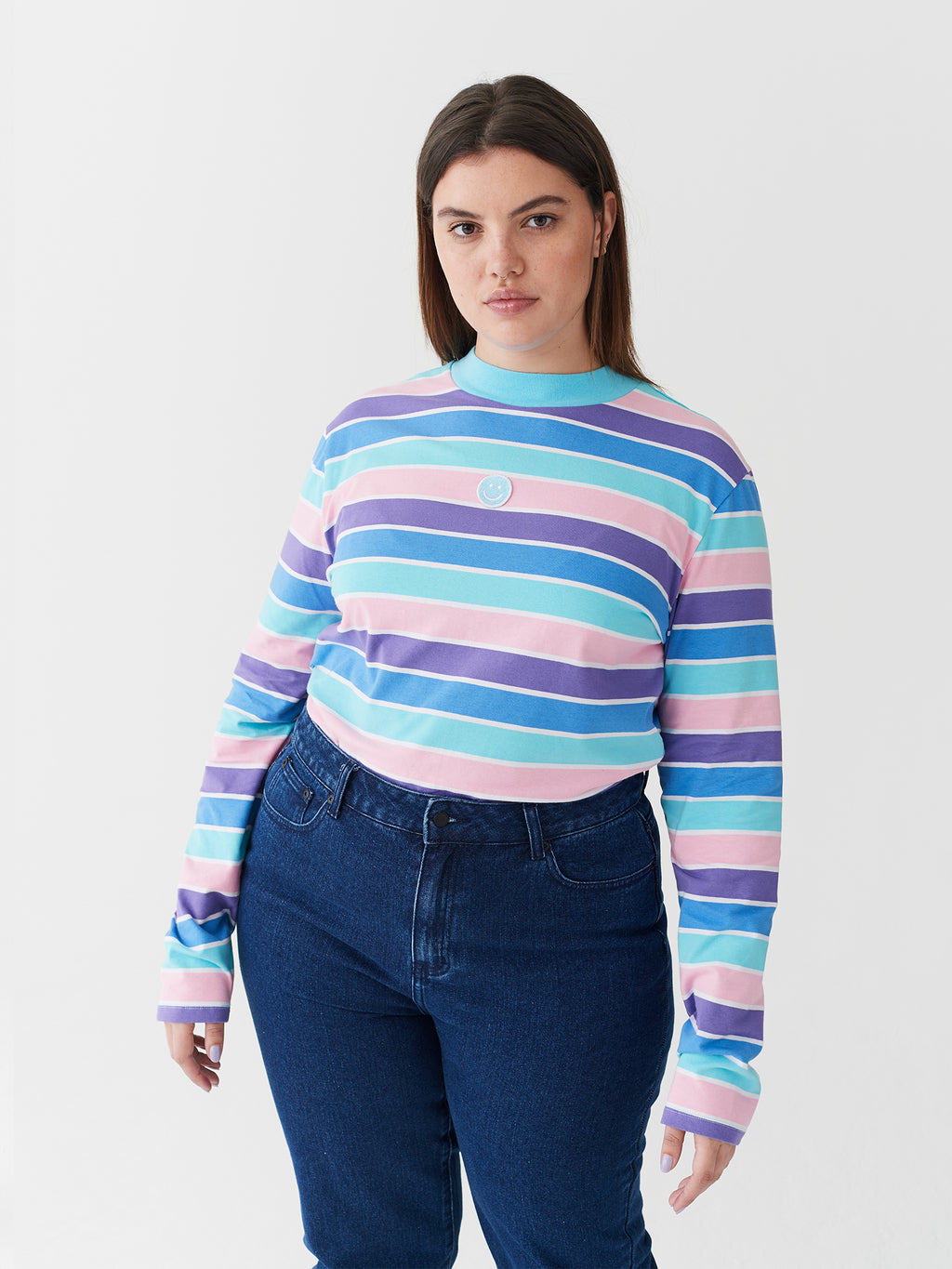 Lazy Oaf Happy Stripy Top