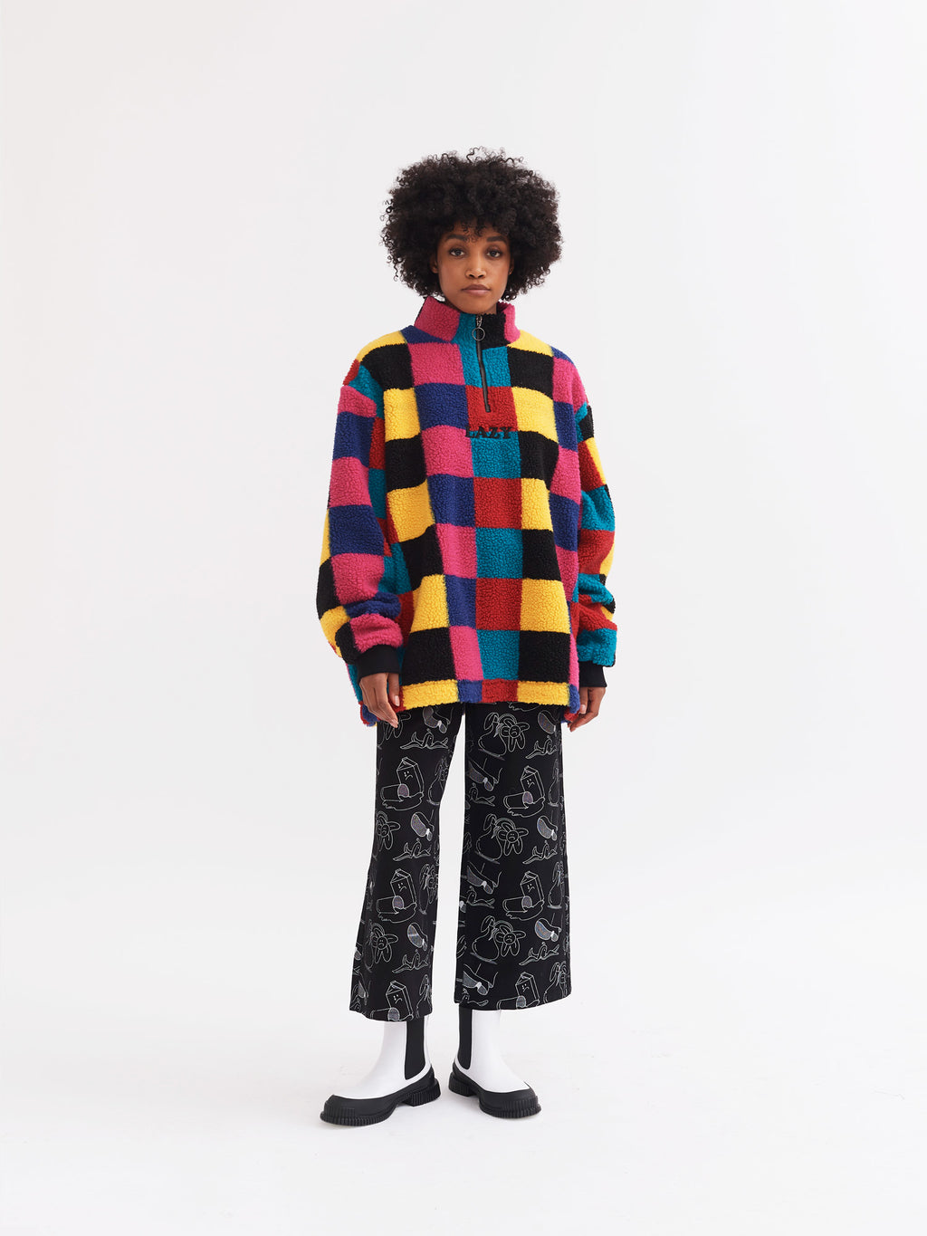 Lazy Oaf True Colour Zip Up Fleece