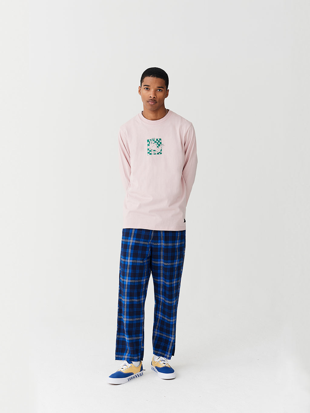 Lazy Oaf Torn Tartan Trousers