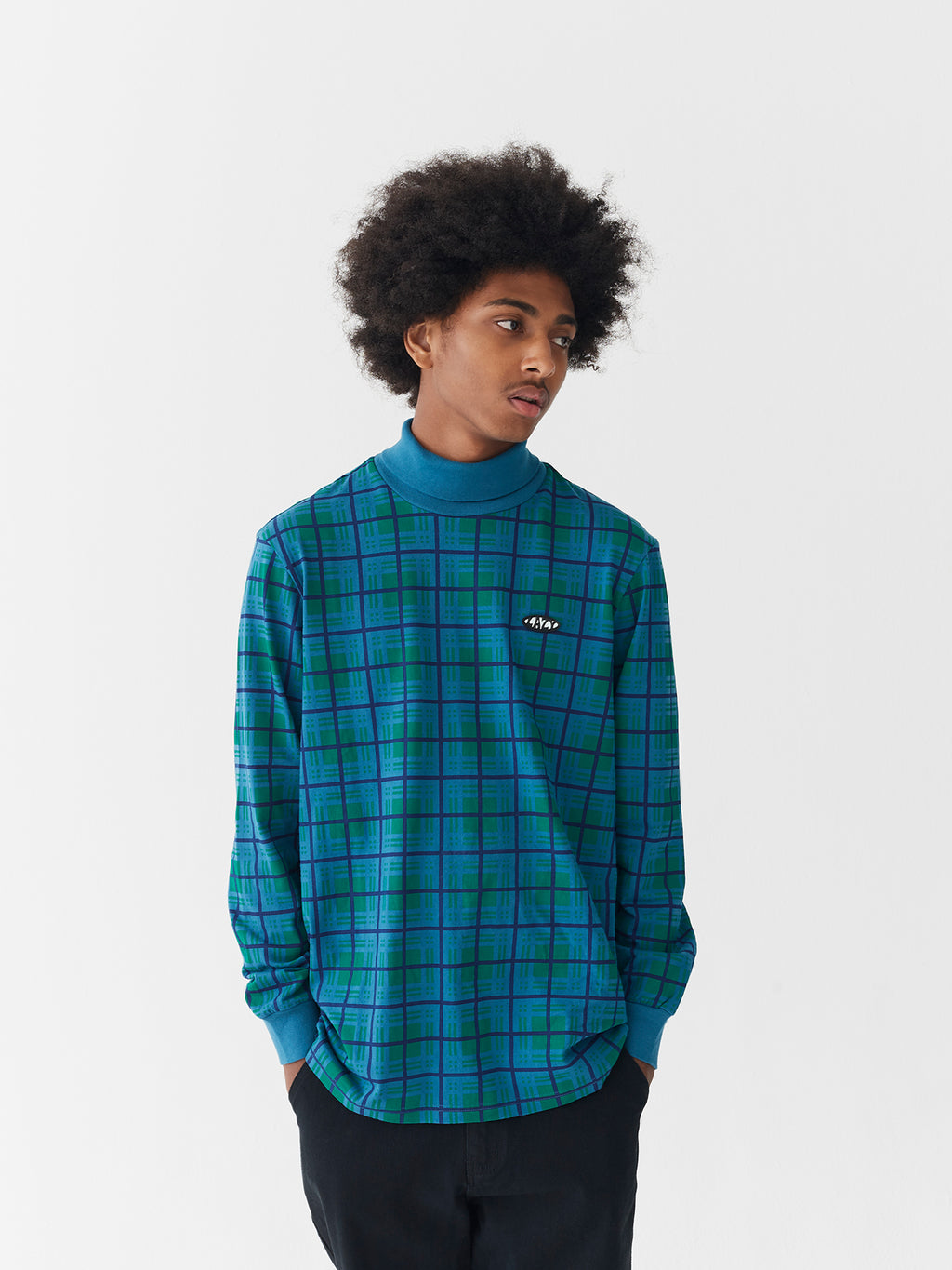 Lazy Oaf Tripped Out Check Long Sleeve T-Shirt