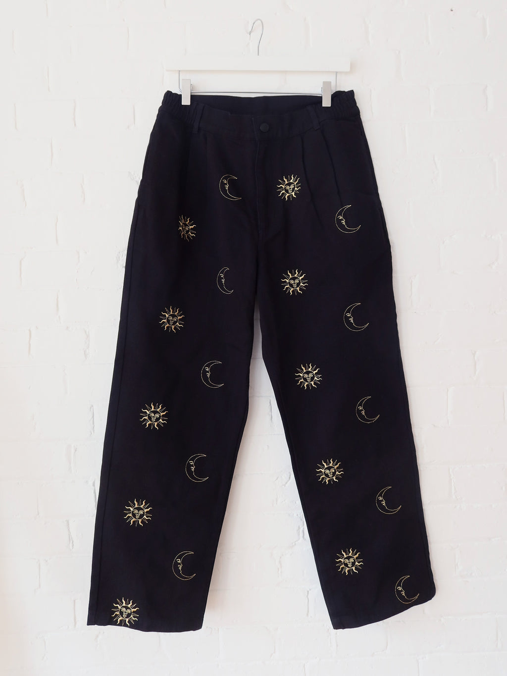 LO x Laura Callaghan Metallic Symbols Pants