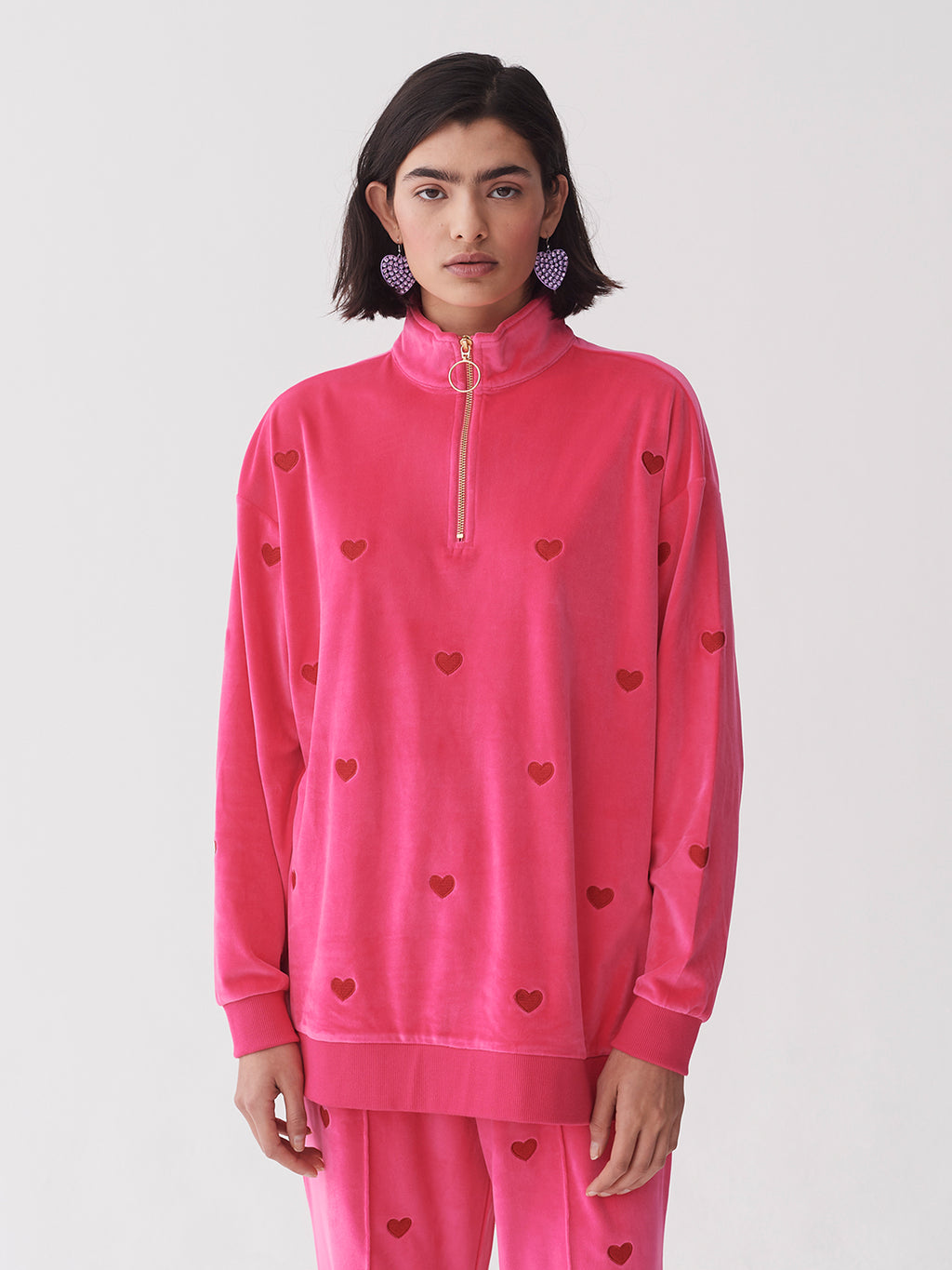Lazy Oaf Velour Love Track Top