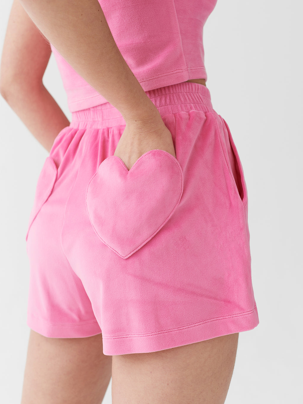 Lazy Oaf Waste Of Time Velour Lounge Shorts