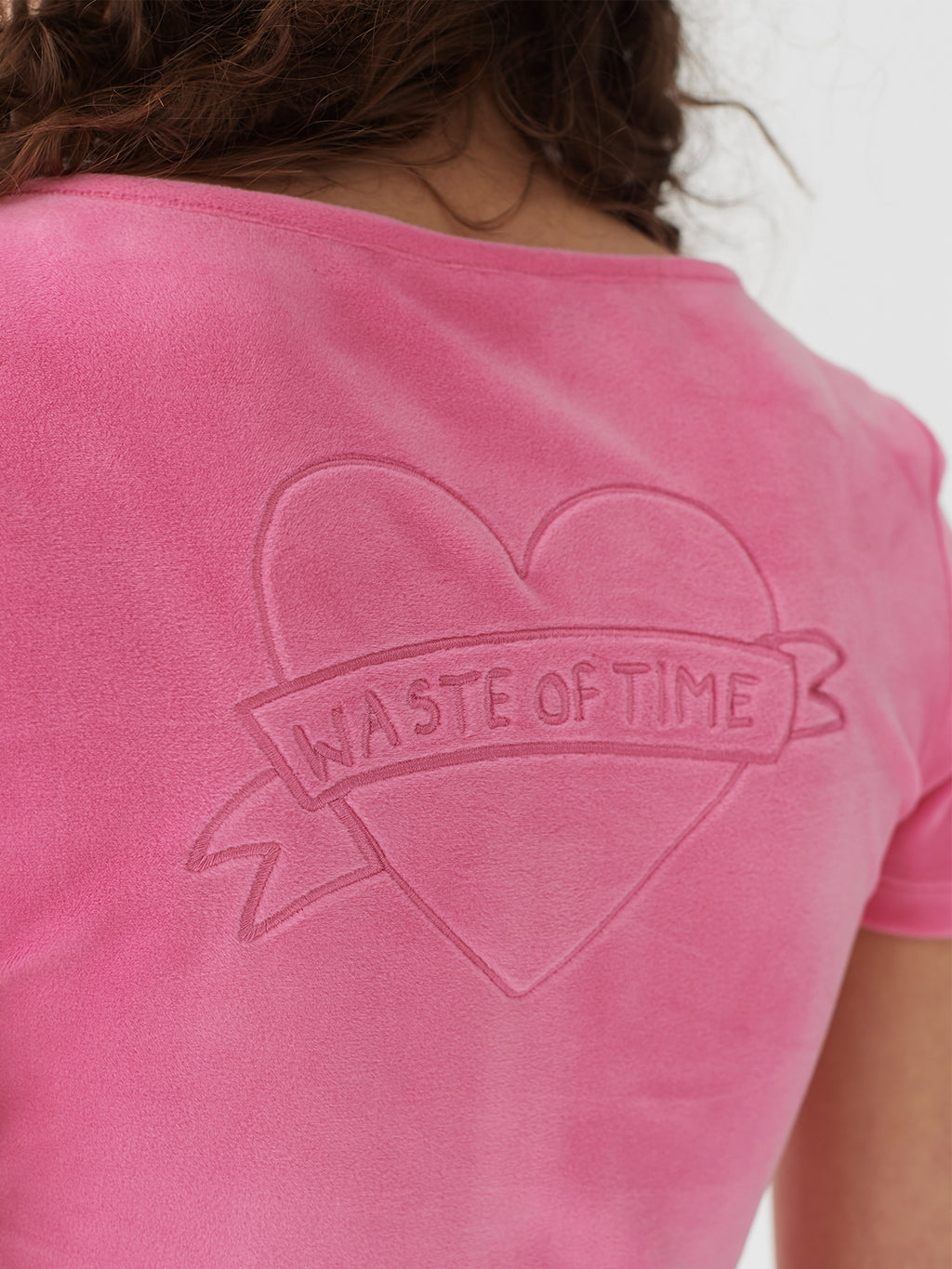 Lazy Oaf Waste Of Time Velour Lounge Top