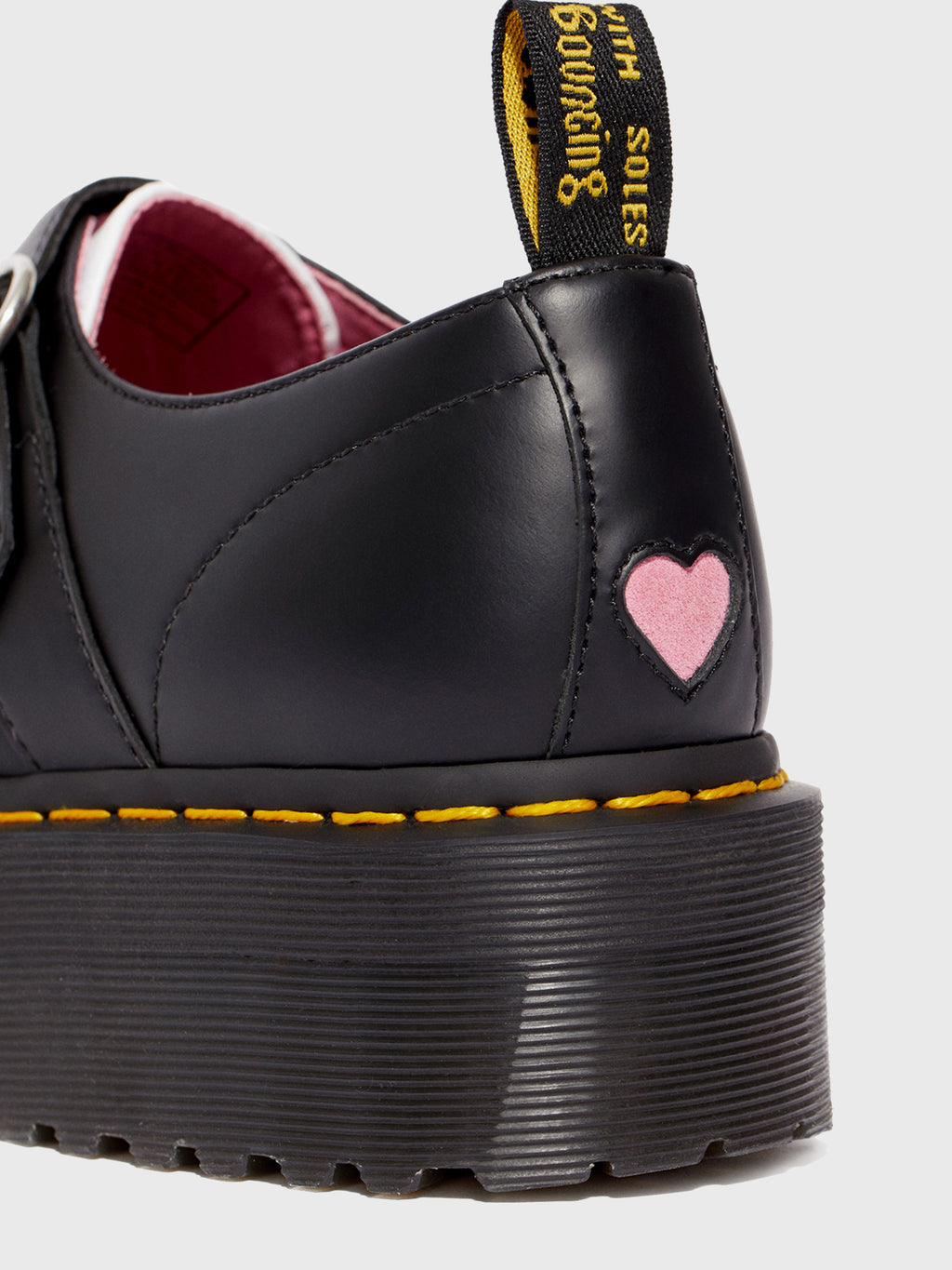 Dr. Martens X Lazy Oaf Pink Heart Buckle BOOTS (uk Size 6