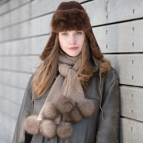 Samantha Holmes Alpaca Fur Trapper Hat - SALE was £110.00 now £70.00