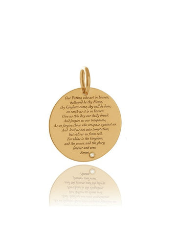 LORDS PRAYER ENGRAVED CHARM - Sale was from £60.00