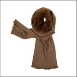 Samantha Holmes Wrap with attached Fur Collar