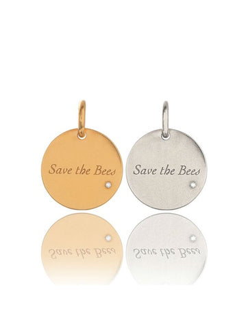 SAVE THE BEES CHARM - GOLD