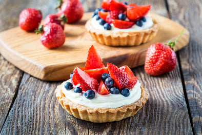 Fresh Fruit Tart with Vanilla & Mascarpone Cream