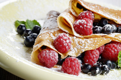 Raspberry Vanilla Cream French Crepes