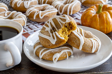 Perfectly pumpkin baked donuts
