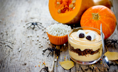 Pumpkin cheesecake gingerbread trifles
