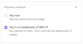 Pay in 4 installments