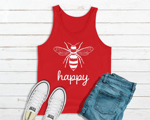 Bee Happy - Save The Bees Red Tank