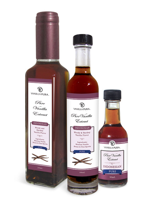Vintage - Indonesian Clean, Pure & Distilled Vanilla Bean Extract in Vodka