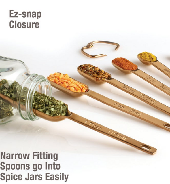 Measuring Spoons - Heavy Duty Copper Set of 7