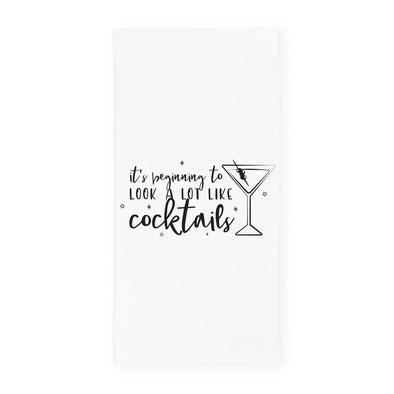 Dish Towel - It's Beginning to Look a Lot Like Cocktails