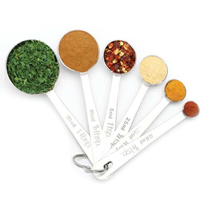 Measuring Spoons - Round Stainless Steel Set of 6