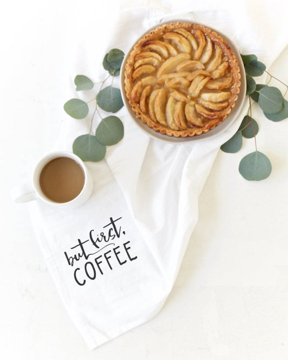 Dish Towel - But First, Coffee