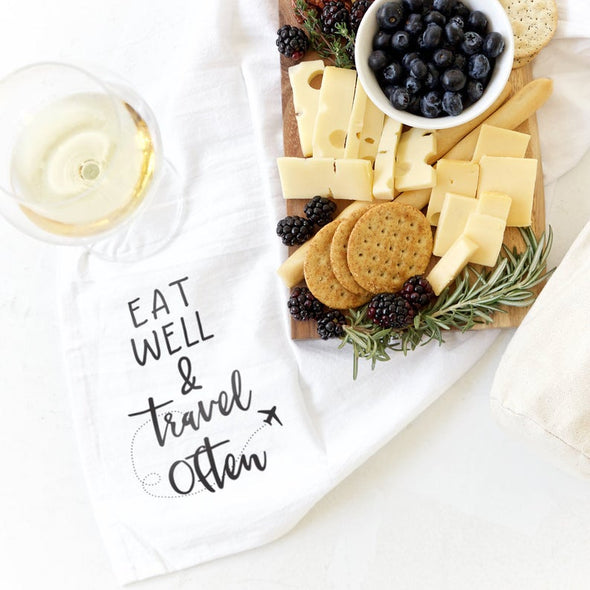 Dish Towel - Eat Well & Travel Often