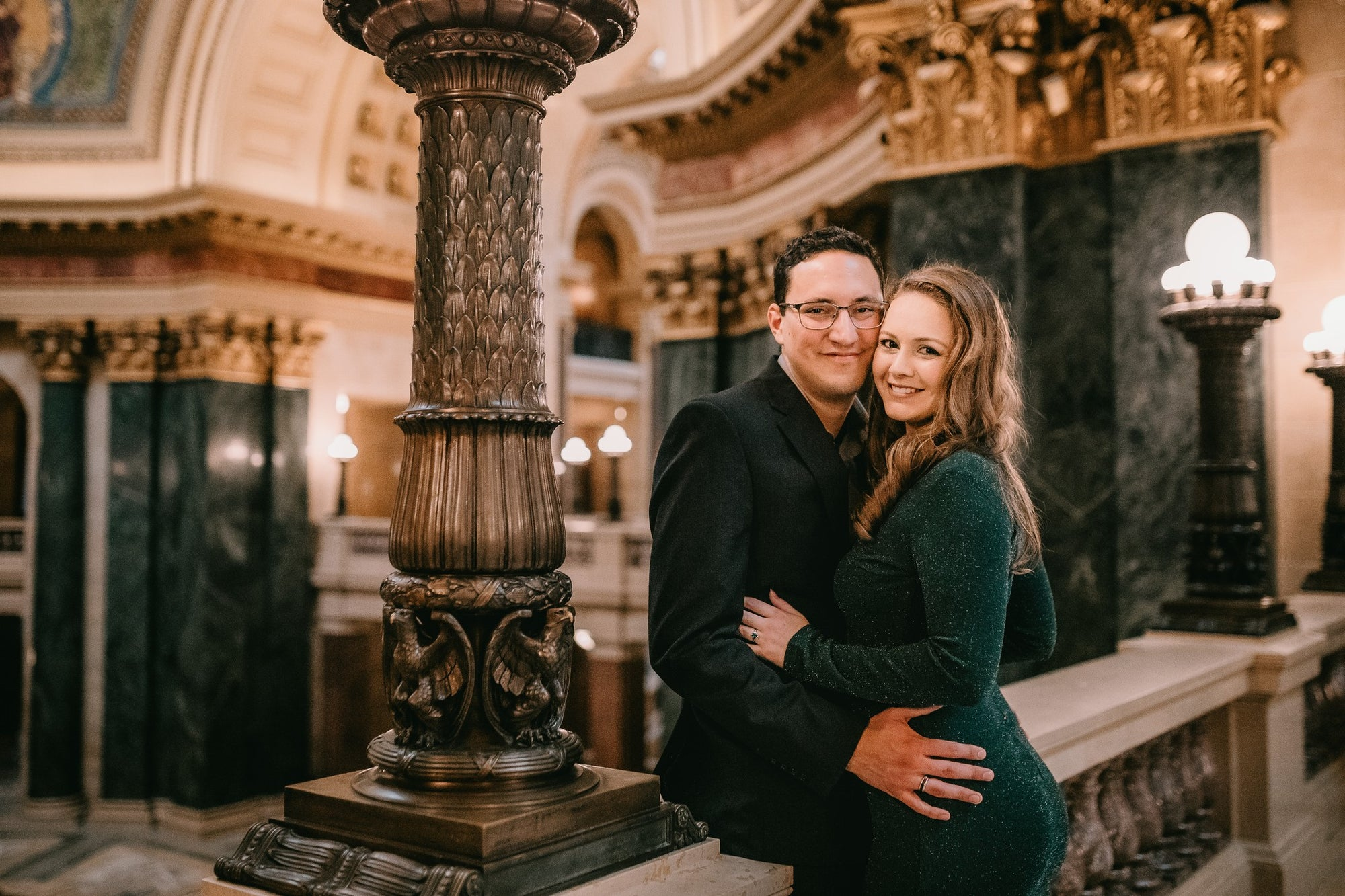 An engagement at the Wisconsin State Capitol building