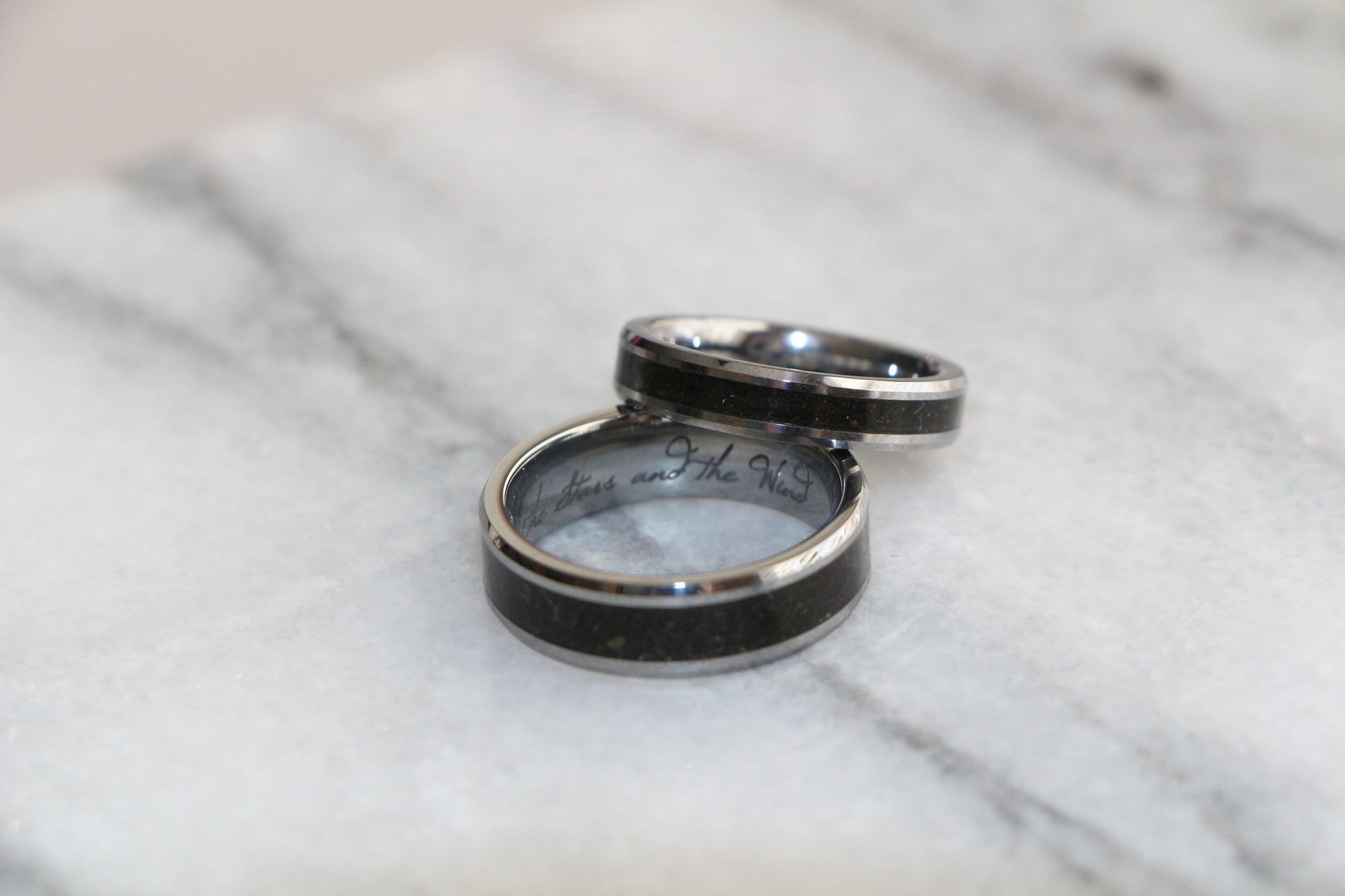An Italian proposal story: custom soil inlay engagement rings