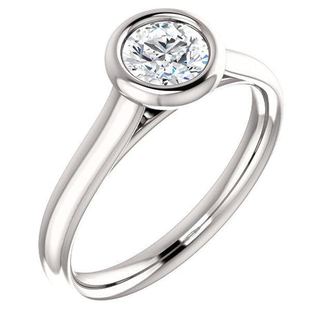 Bezel set lab grown diamond ring 1/2 carat