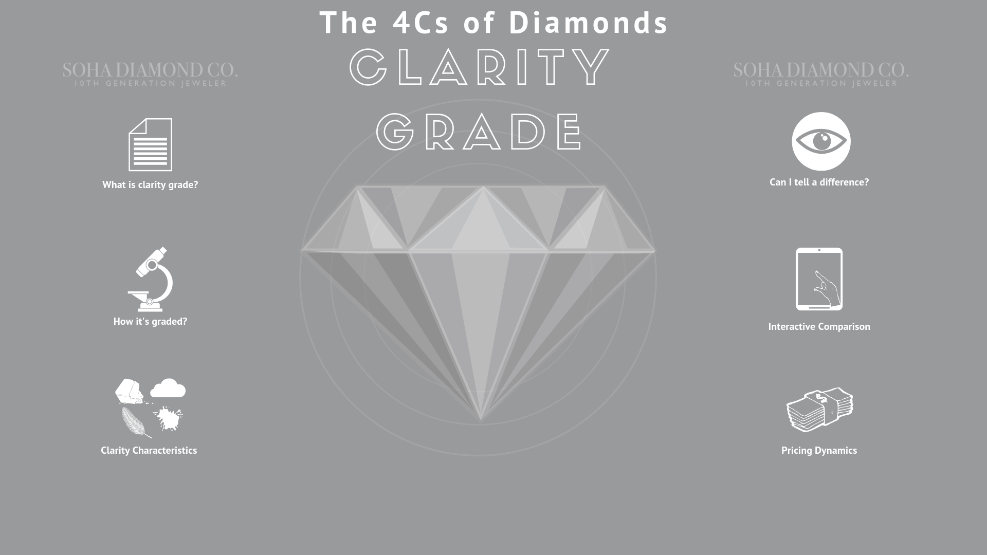 Clarity Grade - The 4Cs of Diamonds - Soha Diamond Co.