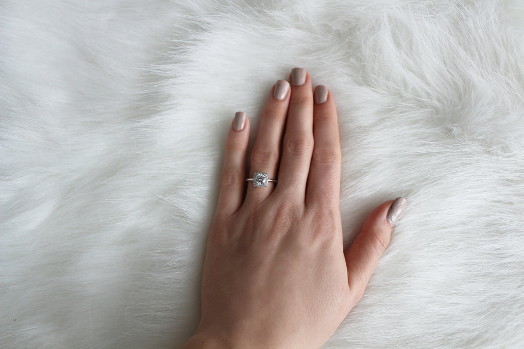 vintage inspired halo ring