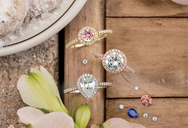Halo engagement rings soha diamond co.