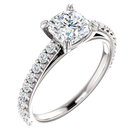 aurora cushion cut solitaire