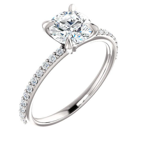 alexandria solitaire engagement ring white gold