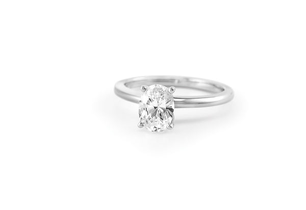 Soha Diamond Co. Oval cut solitaire diamond ring