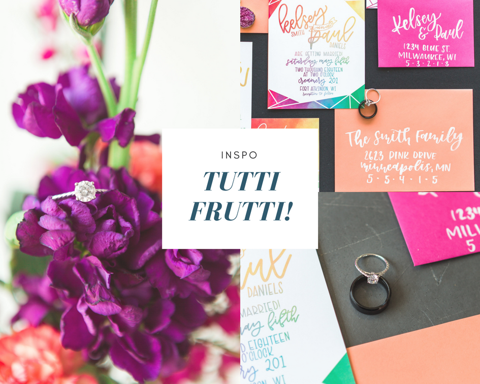 wedding colorful style inspiration