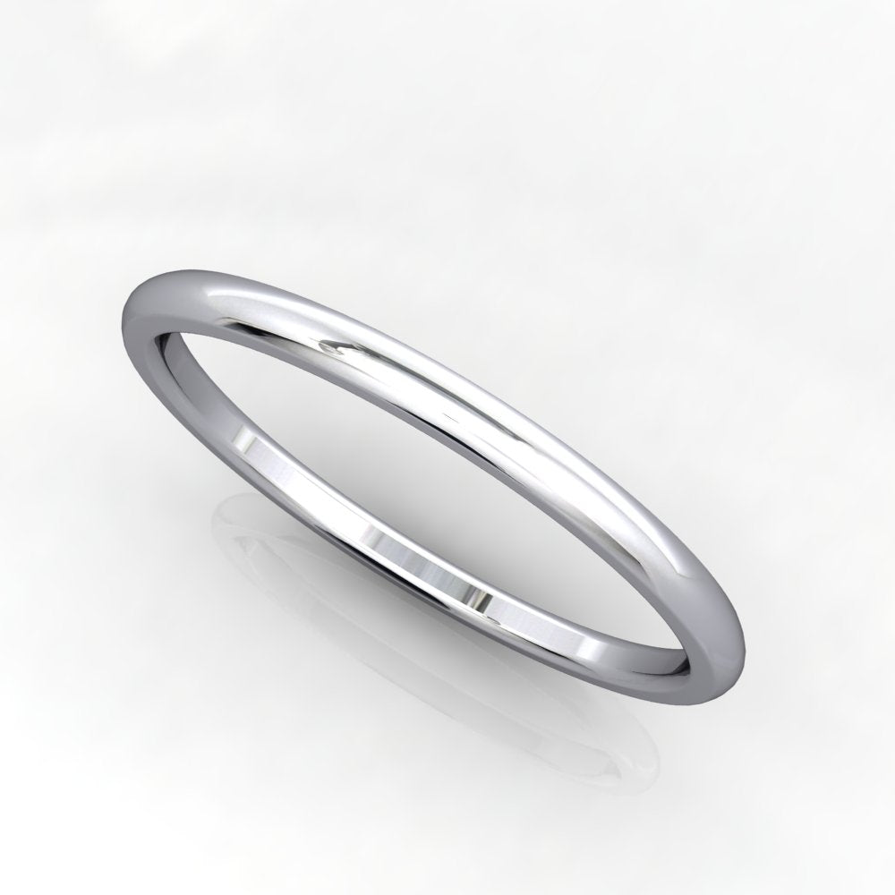 Comfort Fit Domed Wedding Band 1.5mm