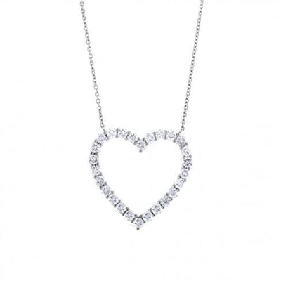 soha diamond co. grown diamond heart shaped necklace