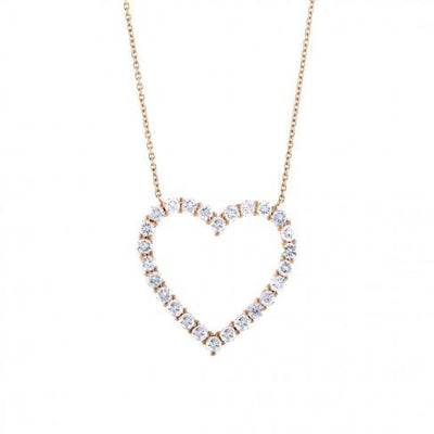 soha diamond co. grown diamond heart shaped necklace rose gold