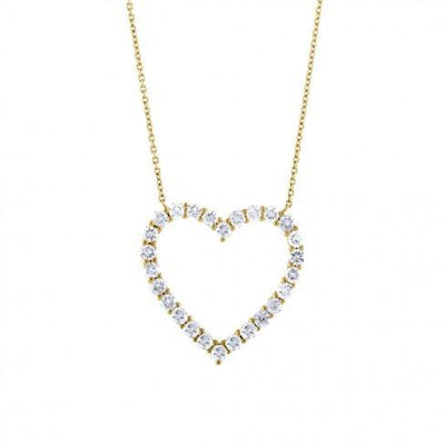 soha diamond co. grown diamond heart shaped necklace yellow gold