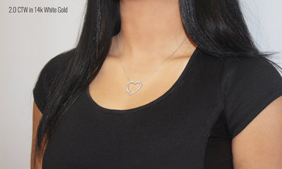 Lab-Grown Diamond Heart Necklace