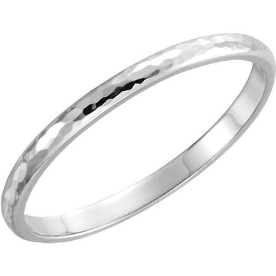 Hammered Finish Wedding Band