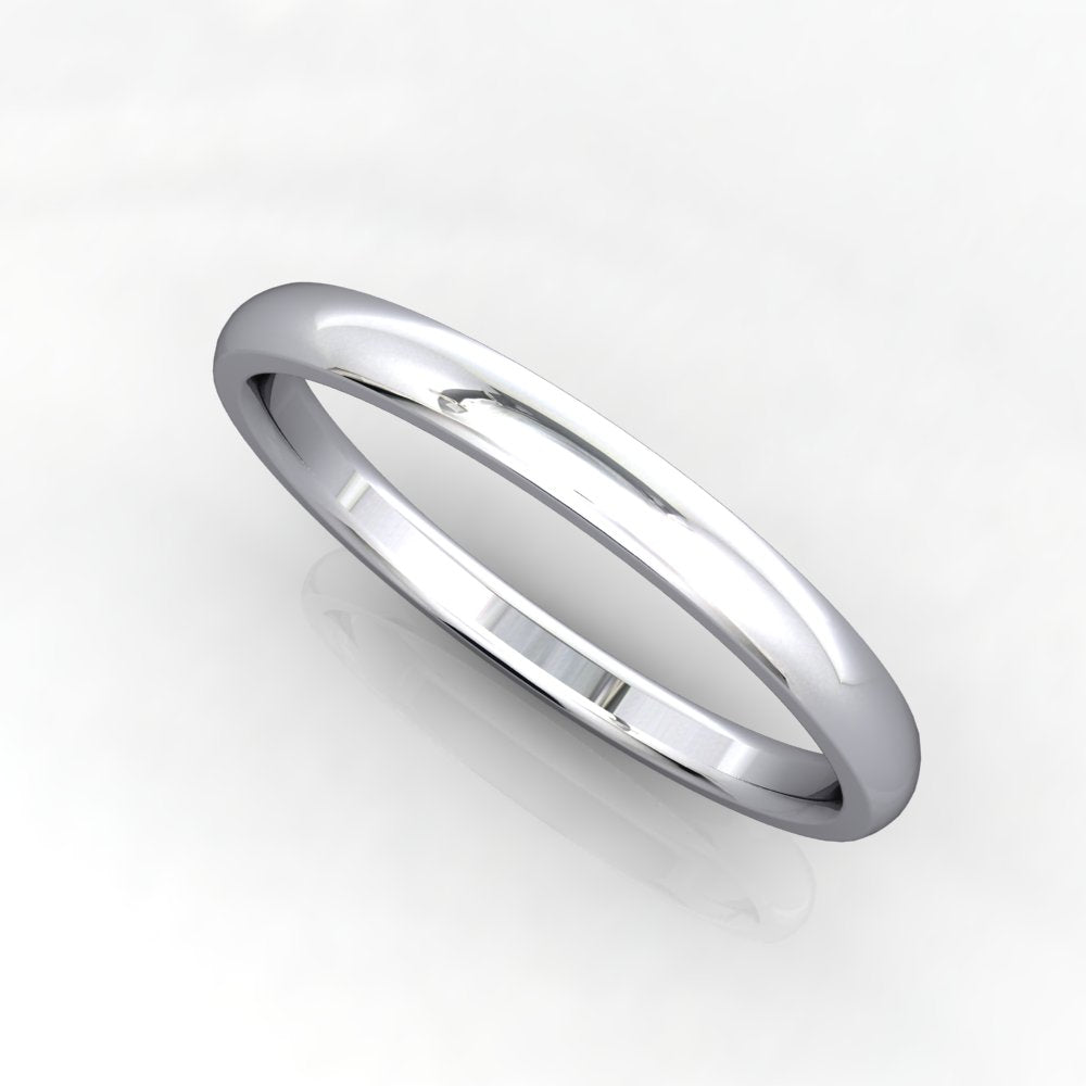 Comfort Fit Domed Wedding Band 2mm