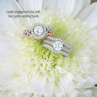 Lucille Diamond Wedding Band