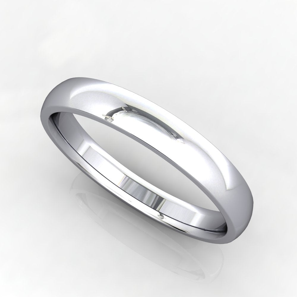 Comfort Fit Domed Wedding Band 3mm