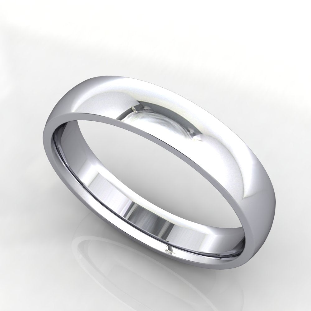 Comfort Fit Domed Wedding Band 4mm