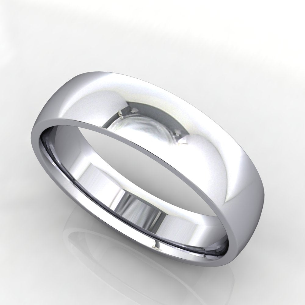 Comfort Fit Domed Wedding Band 5mm