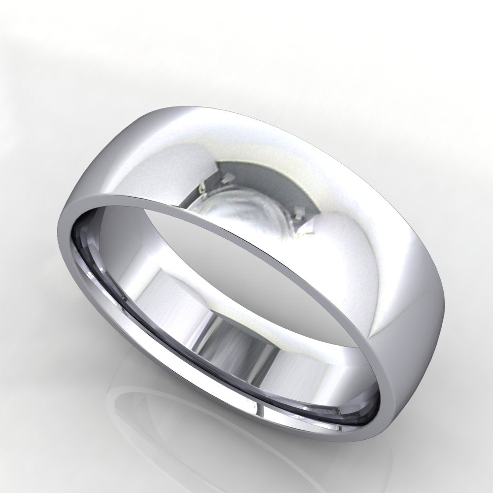 Comfort Fit Domed Wedding Band 6mm