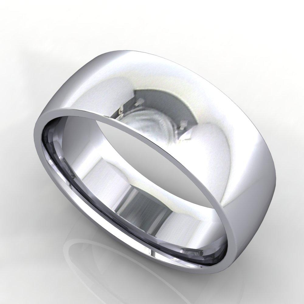 7mm Comfort Fit band white gold platinum