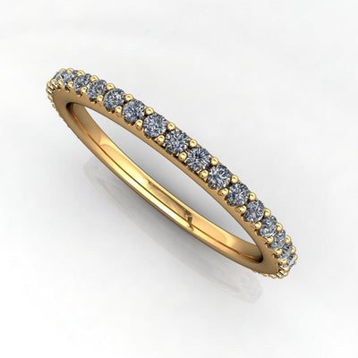 lab-grown diamond wedding band soha diamond co. yellow gold